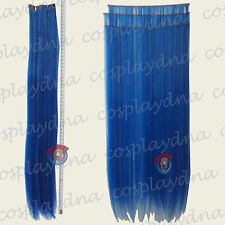 "24"" Dark Blue Heat Stylable Hair Weft Extention (3 pieces) Cosplay DNA 7512"