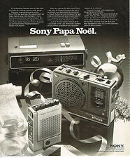 PUBLICITE ADVERTISING 055  1975  SONY   magnétophone cassette corder transistor