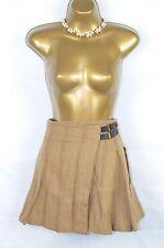 JOULES Preppy brown wool wrap kilt skirt UK 10