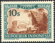 Indonesia 1949 Express Postage/Trains/Steam Engine/Railway/Transport 1v (n42453)