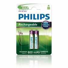 2 Pila Batteria Ricaricabile Mini Stilo AAA Philips R03 ministilo no duracell