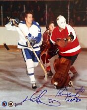 DARRYL SITTLER BERNIE PARENT AUTOGRAPHED 8x10 COLOUR PHOTO SIGNED COA FLYER LEAF