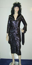 Ladies Black Widow Witch Spiderella Spider Lady Fancy Dress Costume M USED***