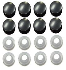 8pcs BLACK SCREW CAP / BOLT CAPS COVERS for Car Truck License Plate Frame