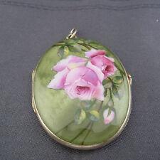 schönes altes Medaillon 935/-Silber vergoldet Emaille