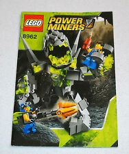 LEGO POWER MINERS 8962 libretto Instruction Manual Booklet MANUALE