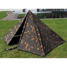 MFH Ungarisches Zelt Armeezelt Campingzelt 4-teilig Gebraucht