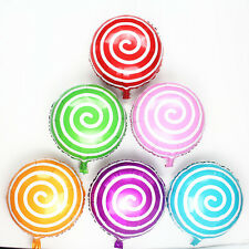 18 inch Kids Lollipops Peppermint Candy Swirl Balloons Birthday Party Decoration