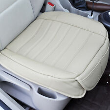 Universal Beige Car Front Seat Cover Breathable PU leather Seat pad Cushion