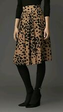 NWT 695$ Burberry London Animal Spotted Silk Skirt size 42 US 8 receipt