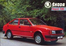 Skoda Rapid Coupe 130 French market sales brochure / leaflet