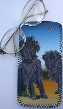 AFFENPINSCHER DOG spectacle glasses pouch case neoprene Sandra Coen sublimation