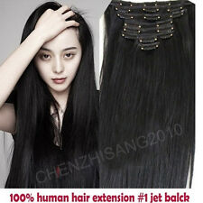 "Tengda 14""-30"" 7Pcs/Set Clips In on Remy Real 100% Human Hair Extension 15colors"