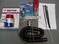 Universal Bilge Pump Kit  PWC Sea-Doo Wave-Runner Jet-Ski Rule 500 gph In Stock