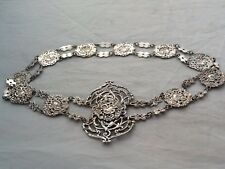 Impressive Antique Silver Plated Rococo EPNS Belt & Buckle