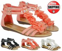 NEW LADIES WOMENS WEDGE HIGH LOW HEEL SUMMER BEACH FLAT SANDALS SHOES SIZE 3-8