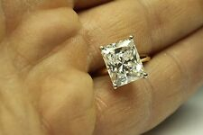 ENGAGEMENT SOLITAIRE RING 5.00 CT RADIANT CUT 14 KARAT YELLOW GOLD