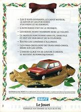 Publicité Advertising 1988  SEAT MARBELLA Le Jouet