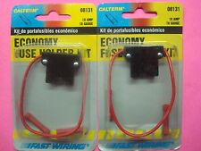 2 PACKS FUSE HOLDER ECONOMY KIT 10AMP/18GA-2-BUTT SPLICE PRIMARY WIRE CONNECTORS
