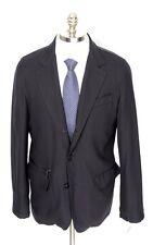 ERMENEGILDO ZEGNA Jas All Seasons Navy Wool Car Coat Jacket 56 2XL 46R NWT $1995