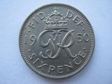 1950 Sixpence, EF.