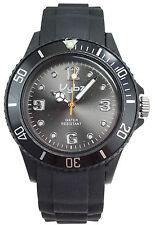 VYBZ Black Silicone Band Wristwatch with Unidirectional Bezel Glow in the Dark