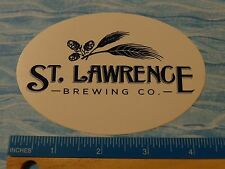BEER STICKER    St LAWRENCE Brewing Co    Canton, NEW YORK ** 100s More in STORE