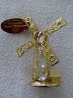 Genuine Austrian Crystal 24K Gold-Plated Windmill from Crystal Millennium Prod.