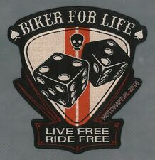Biker for Life XL toppa ricamata termoadesivo iron-on patch Aufnäher