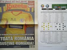 Gazeta & Team Sheet LS 19.11.2013 Romania Rumänien - Greece Griechenland