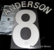 Manchester United Uefa Champions League Anderson 8 2008/11 Football Name Set H