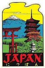 JAPAN      Vintage-Looking Travel Decal/Luggage Label/Sticker