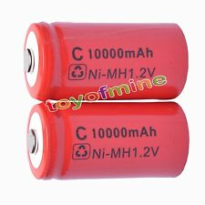 2 x C size 1.2V 9500mAh Ni-MH rechargeable battery Red