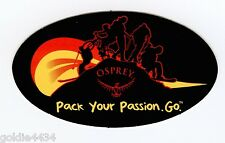 OSPREY - Pack Your Passion GO - LOGO Bumper Helmet Window Decal Sticker