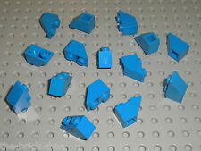 15 x LEGO blue Slope Brick ref 3665 / Set 6985 10177 733 8018 4425 4483 6363 ...