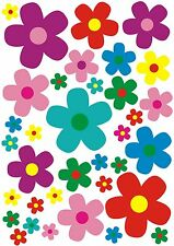 Blumen Blümchen Aufkleber Set, Flower Style bunt, Autoaufkleber, kfz-decal-156