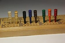 12 Wood Cribbage Pegs - You Select Color - Read Description