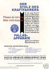 Auto Zubehör Pallas Apparate Charlottenburg Reklame von 1926 Autoteile Werbung