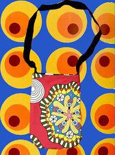 A130 ✪ 60er 70er anni Psichedelica Retrò Borsa Woodstock Festival Hippie colorato