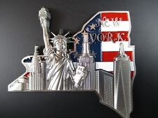 New York Metall Magnet,World Trade,Freiheitsstatue,Empire,Chrysler,Neu.