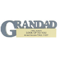 Special Grandad Sentiments From The Heart Word Block Plaque Lovely Gifts Range