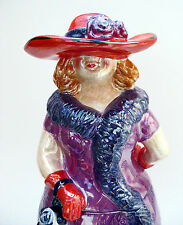 Cookie Jar - Red Hat High Society Lady Ceramic 2004 New in Box . . . RARE!