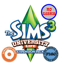 The Sims 3 University Life (PC&Mac, 2013) Origin Download Region Free