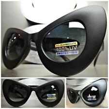 OVERSIZE EXAGGERATED VINTAGE RETRO CAT EYE Style SUN GLASSES Matte Black Frame