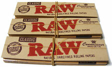 3 PACKS OF RAW KING SIZE CIGARETTE ROLLING PAPERS & TIPS (96 PAPERS + 96 TIPS)