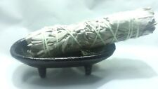 3 White Sage Smudge Kit Burner with Iron Canoe for Incense Stick, Cone & Smudge