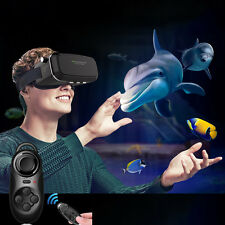 3D Virtual Reality VR Movie Game Glasses for Samsung Galaxy S7 S6 + Controller
