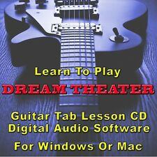DREAM THEATER Guitar Tab Lesson CD Software - 155 Songs