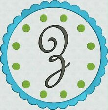 Machine Embroidery Fonts Designs Scallop Frame Brother Bernina Singer New CD