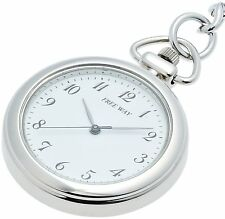 New!! Citizen Q&Q Pocket Watch FREE WAY AA92-4431B White Japan Import F/S